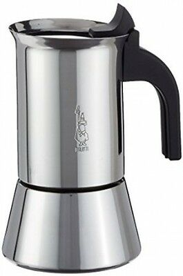 New Bialetti Elegance Venus Induction 2 Cup Stainless Steel Espresso Maker