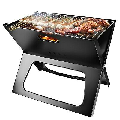 Foldable Compact Charcoal Barbecue BBQ Grill Outdoor Camping Cooker Bars Smoker