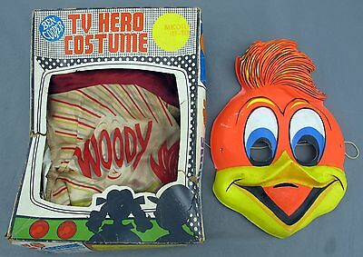 Rare Vintage 1970 Ben Cooper Inc TV Hero Woody Woodpecker Costume With Mask USA