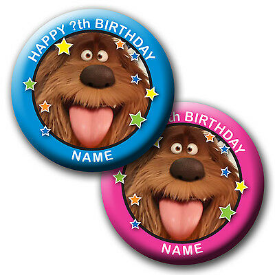 Personalised The Secret Life Of Pets Duke Birthday Badges/magnet/mirror