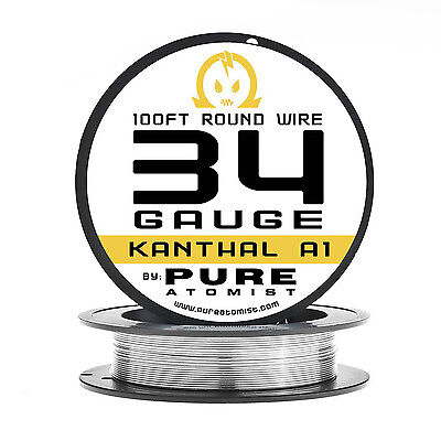 Pure Atomist 100 ft. kanthal A1 34g Resistance Wire 0.16mm / 34 Gauge AWG 100ft