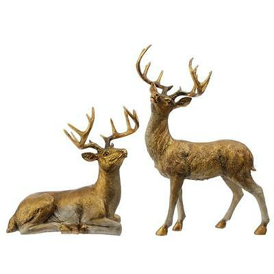 NEW RAZ Large Gold Deer Christmas Figure Decoration 3601617