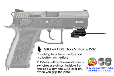 Armalaser Gto For Cz P 07 P 09 Red Laser Sight W Flx31 Grip Touch