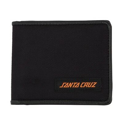 Santa Cruz SCS BLOCK STRIP BI FOLD Skateboard Wallet BLACK