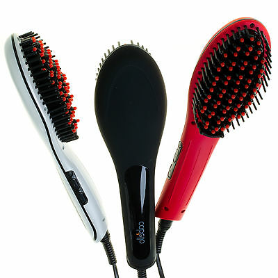 Cabello Glow Straightening Brush WHITE / BLACK / RED