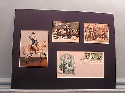 George Washington Crosses the Delaware & wins at Yorktown & First day Cover