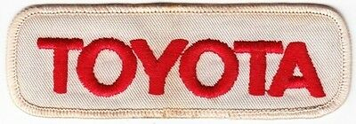 Toyota on White Twill Patch