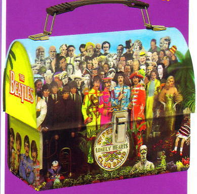 BEATLES Sgt Peppers Lonely Hearts Club Band DOME TIN TOTE SNACK TOOL LUNCHBOX