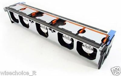 Dell Poweredge R710 Server Fan Assembly Cage Gy080 5x Fans 090xrn 90xrn