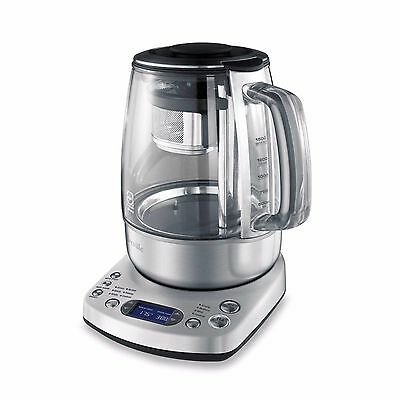One Touch 51 Ounce Auto Magnetic Stainless Steel Basket Brew Tea Electric Kettle