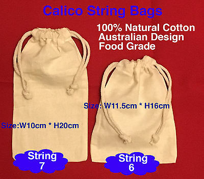 Calico Bag Calico Money Bag Coins Bag Bulk Drawstring Calico Bags Cotton 30-200