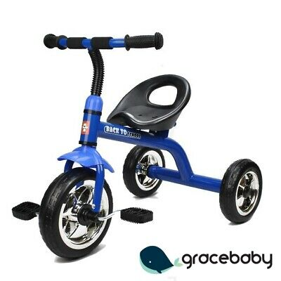 Deluxe Grow with Me Kids Toddler Ride-On Trike Tricycle - Blue