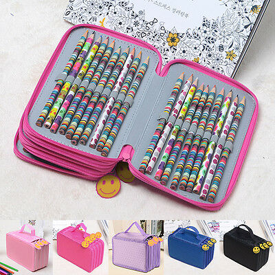 High Capacity Holder Stationary Makeup Pouch Pencil Case Pen Box Storage Bag