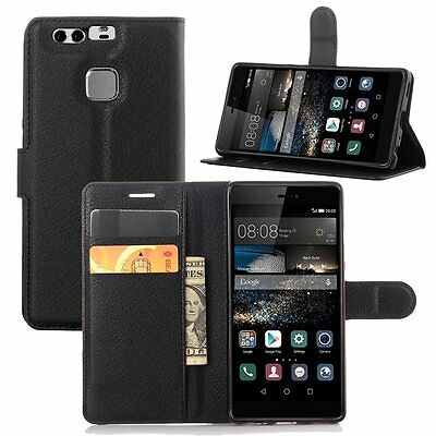 pour Huawei P9 PLUS   Housse Coque Etui portefeuille Support Video cuir PU