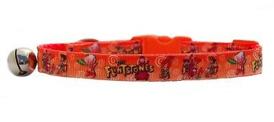 "Orange Fred Wilma Pebbles  "" The Flintstones""   safety kitten cat collar 3 sizes"