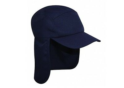 Navy Legionnaire Sun Neck Cover Snapback Cap Sports Hat - PROTECT YA NECK