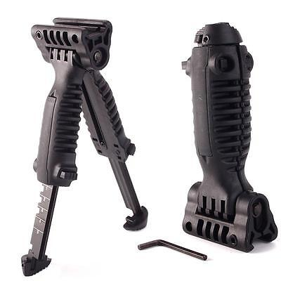 Hot Tactical Vertical Fore Hand Grip Bipod Picatinny Rifle Weaver Adjustable