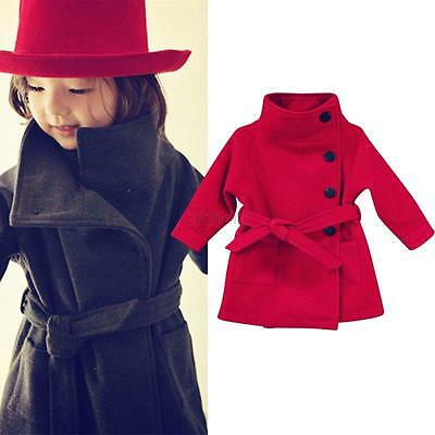 Kids Baby Girl Toddler Windbreaker Coat Autumn Winter Jacket Clothes Outwear