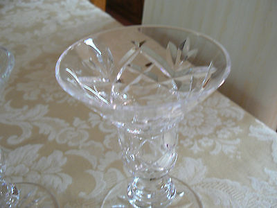 Vintage Unmarked Clear Crystal Pair of Beautiful Tapered Candle Holders