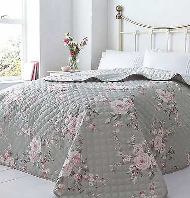 Luxury Canterbury Quilted Bedspreads Comforter Throw, 240 x 260 cm
