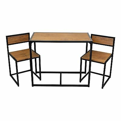 2 person space saving compact kitchen dining table chairs set picclick uk. Black Bedroom Furniture Sets. Home Design Ideas