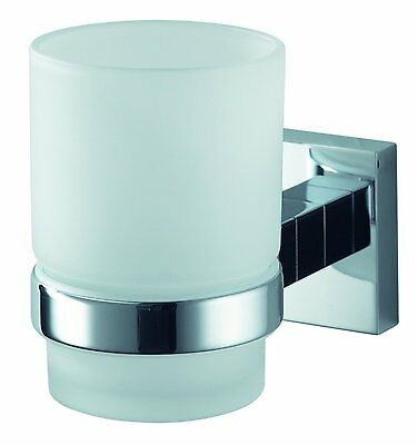 Haceka, Mezzo Glass Cup Holder, Chrome, 1115894
