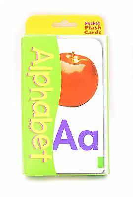 New Kids Toddlers 56 Alphabet Pocket Flash Cards - Educational 2 Sided Cards