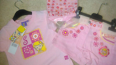 """Girls """"Sabrina The Witch"""" T-Shirt, Shorts and Bandana Set New With Tags"""