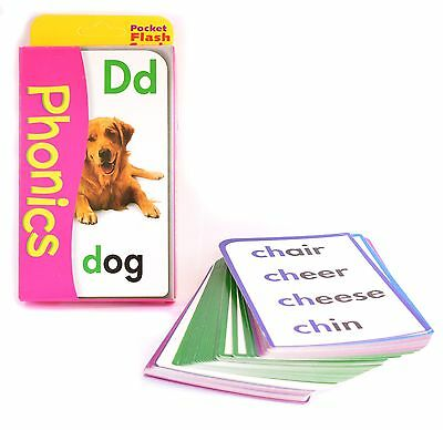 New Phonics Facts 56 Pocket Flash Cards Kids Children School Learning See & Say