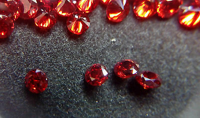 5mm Red Garnet Cubic Zirconia Round Cut Loose Gemstone AAAAA lot of 10 stones
