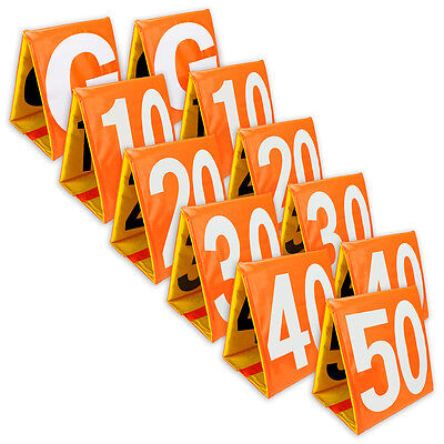 Day and Night Football Field Sideline Yard Markers Full Set Orange & Yellow