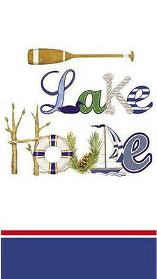 LAKE HOUSE by MARY LAKE THOMPSON PAPER BUFFET NAPKINS /GUEST TOWELS