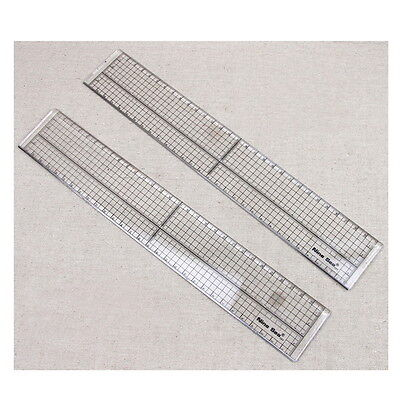 Quilting Sewing Patchwork Foot Aligned Ruler Grid Cutting Edge Tailor Craft #DF