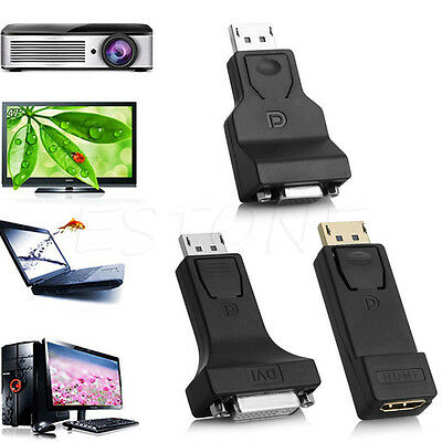 DP Display Port Male to DVI/HDMI/VGA Female up 1080P Converter Adapter For PC