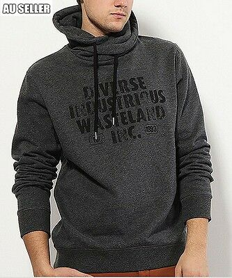 Men's Casual High Collar Jumper Hoodie Sports Sweater Size L