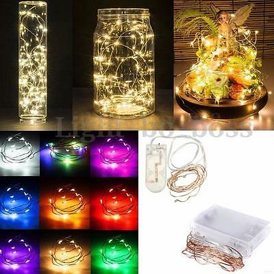 Fashion 10/20 LED String Fairy Lights Copper Wire Battery Operated Xmas Party