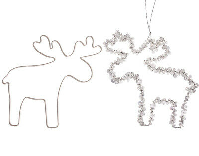 Set of 2 Wire Reindeer for Christmas Crafts -12.5cm
