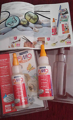 2 Bottles Fimo Liquid Decorating Gel Staedtler 50 Ml Ipolymere Clay