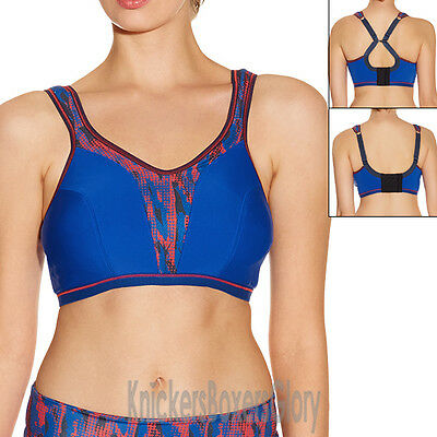 cc2b24daa6b4c Freya Active Non Wired Soft Cup Multiway Crop Top Sports Bra Olympic Blue  4000