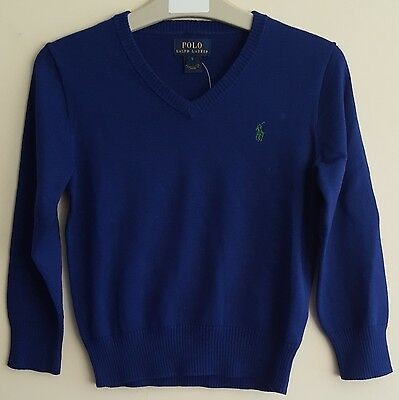 Childrens Boys Authentic Polo Ralph Lauren V-Neck Long Sleeve Jumpers