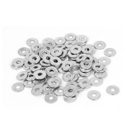 3mm x 9mm x 1mm Zinc Plated Flat Spacers Washers Gaskets Fasteners GB97 100PCS