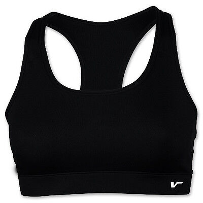 New Womens Padded Sports Bra Singlet Top Fitness Tank Running Yoga Gym Black