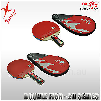 Double Fish Table Tennis - 2D Series Bat - Long Handle / Short Handle Blade