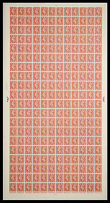 Sg 506 2d Brown Complete Sheet Cyl 71 No Dot UNMOUNTED MINT
