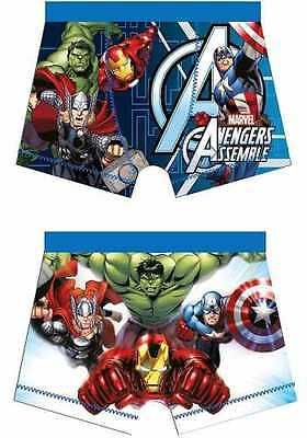 Childrens Boys Character Avengers Marvel Boxers Briefs Pants Underwear