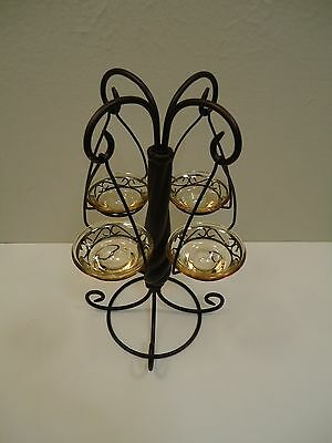 PartyLite New Global Fusion Tealight Tree  ~ Holds 4 Tealights ~