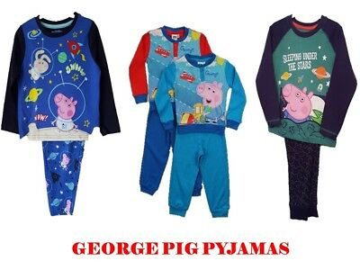 "Childrens Boys ""george Pig"" Long Sleeve 2 Piece Pyjama Set Nightwear ""peppa Pig"""