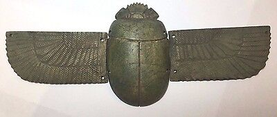 Egyptian-style steatite Wing Scarab with 5 amulets
