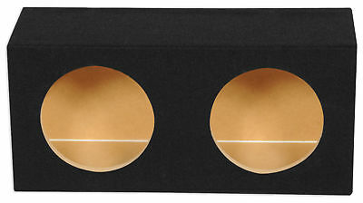 "Rockville RDE8 Dual 8"" 0.63 cu. ft. MDF Sealed Car Sub Box Subwoofer Enclosure"
