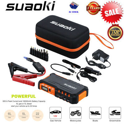 18000mAh 600A Portable Auto Car Jump Starter Booster Battery Charger Power Bank